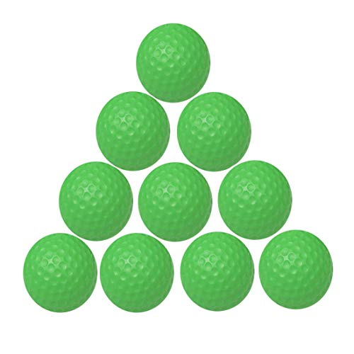- WYF 10PCS Practice Golf Balls Soft Dimpled Elastic Indoor Outdoor Training Soft Foam Golf Balls (Green)