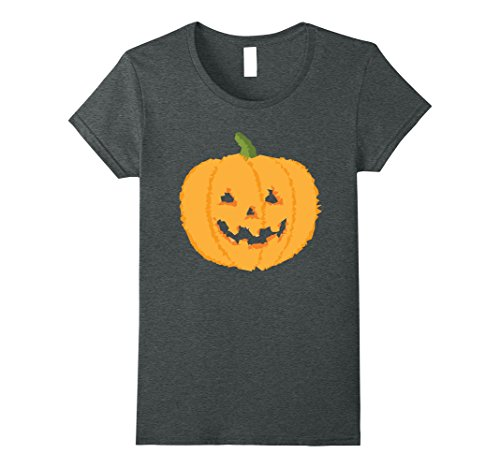 Womens Halloween Pumpkin - Geometric Design - T Shirt Small Dark Heather