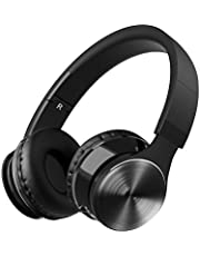 Mpow Upgraded Bluetooth Headphones Over Ear, Wireless & Wired Hi-Fi Stereo Sounds Headphones with Mic, Up to 8 hrs, Foldable Bluetooth Headset for PC Cellphones Tablets
