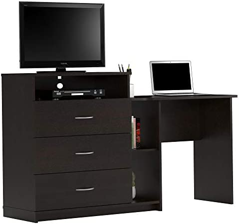 Ameriwood Home Rebel Media Dresser and Desk