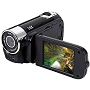 Zengkei Video Camera Camcorder with Night Vision, Vlogging Camera Recorder HD 1080P 2.7 Inch LCD Rotatable Flip Screen…
