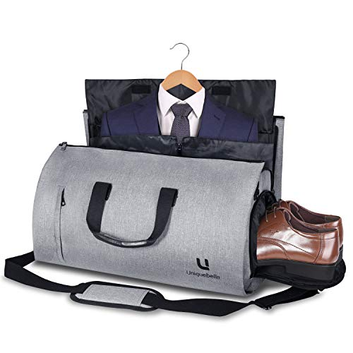 Garment Sleeve Bag - Carry-on Garment Bag Suit Travel Bag Duffel Bag Weekend Bag Flight Bag Gym Bag - Grey