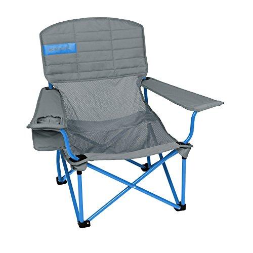 Kelty Lowdown Mesh Camp Chair, Smoke/Paradise Blue