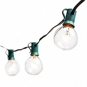 Amazon Com Deneve G40 String Lights With 25 Clear Globe