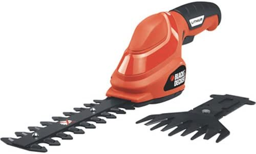 BLACK DECKER Shrub Trimmer Grass Shear Combo, Cordless, 3.6V GSL35