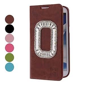 CECT STOCK MOVSOINA pu estuche de cuero con Rhinestone para Samsung Galaxy Note N7100 2 (colores surtidos) , Verde