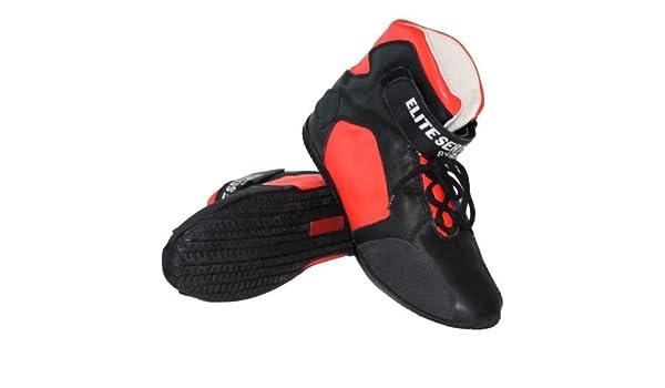 Racerdirect SFI 3.3//5 Race Shoes MID TOP Racing Shoes Suede Black Size Mens 10 Womens 12
