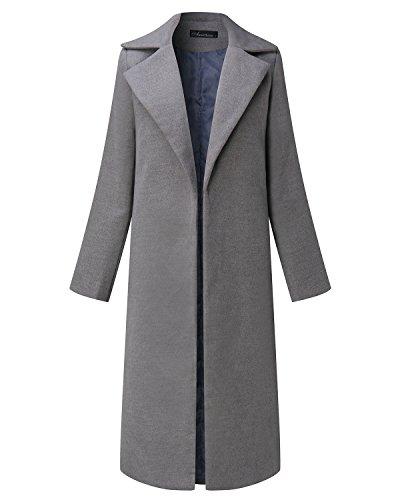 Manteau Long Auxo Demi Gris Hiver Droite Parka Casual saison coat Veste Femme Chic Trench Blouson agxqxI4d