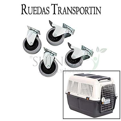 KIT 4 RUEDAS para TRANSPORTIN DE ANIMALES PERROS. Kit compuesto por 4 ruedas de alta