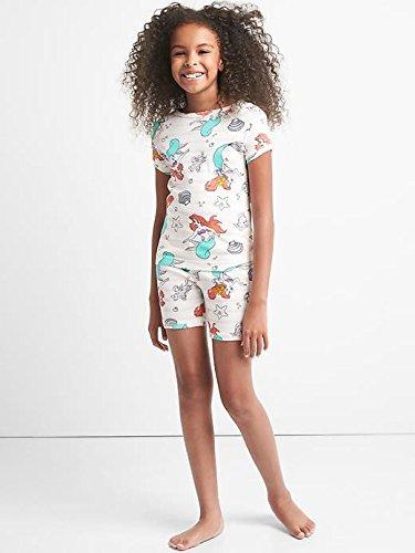 Gap Kids Girls Disney Little Mermaid Shorts Pajamas 14