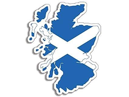 Amazon Scotland Shaped Scottish Flag Sticker Decal Scot Shape