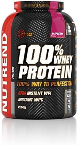 Nutrend Whey 100% Protein Pulver 2250g (2,25 kg) Himbeere 76% Protein Gluten Free Nach dem Training