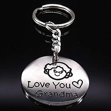 Amazon.com : Key Chains - New Grandmother Silver Color ...