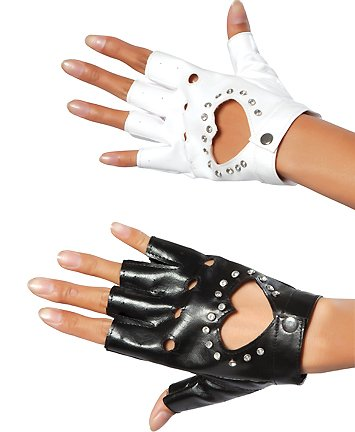 Fingerless Heart Gloves with (Rave Costume Ideas)