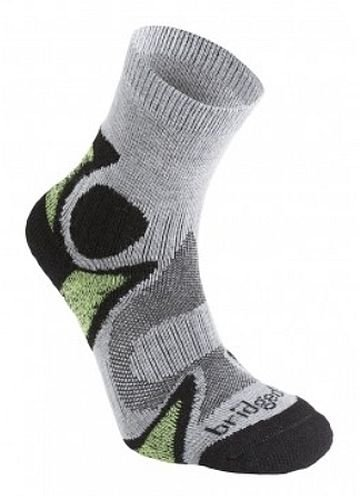 Bridgedale Men's Trailhead Socks, Black/Green, Large ()
