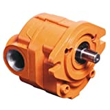 """Cross Manufacturing 360065 40P012 RAASA Aluminum Hydraulic Gear Pump, Right Hand Rotation, SAE """"A"""" Mounting, Splined Shaft, 1.25 Cu In/Rev Displacement, Orange"""