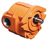 """CROSS Manufacturing 360113 40P007 LACSA Aluminum Hydraulic Gear Pump, Left Hand Rotation, SAE """"A"""" Mounting, Keyed Shaft, 0.75 Cu In/Rev Displacement, Orange"""