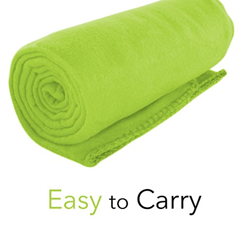 Imperial Home Cozy 50 X 60 Fleece Throw Blanket -Lime Green ()