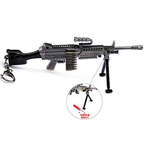 1/6 Scale Metal M249 Machine Gun US Army Miniature Toy Guns Military Model Fit for 12