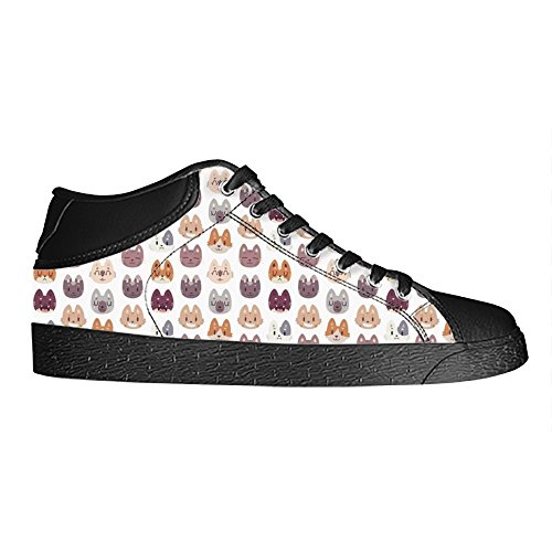 Dalliy Custom Fox Womens Canvas Shoes Schuhe Lace-Up High-Top Footwear Sneakers D