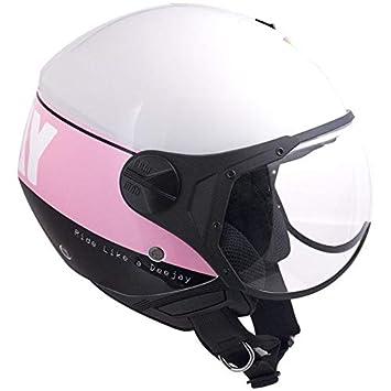 CGM 107dj3-fsa-74 Helm Deejay Ausschnitt, Pink: Amazon de: Auto