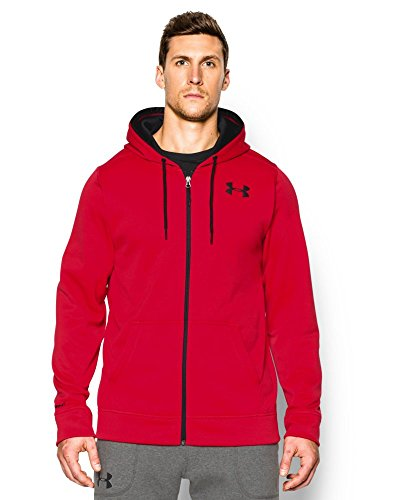 Core Fleece Hoody (Under Armour Men's Armour Fleece Core FZ Hoodie, Red,)