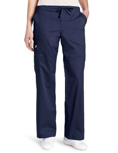 WonderWink Women's Scrubs Utility Girl Stretch Cargo Multi Pocket Pant, Navy, - Scrub Kids Navy