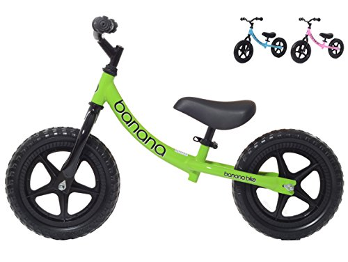 Banana Bike LT - Lightweight Balance Bike for Kids - 2, 3 & 4 Year Olds (Green)