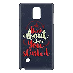 Loud Universe Galaxy Note 5 Think About Where You Started Print 3D Wrap Around Case - Dark Blue/Red