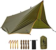 FREE SOLDIER Waterproof Portable Tarp Multifunctional Outdoor Camping Traveling Awning Backpacking Tarp Shelte