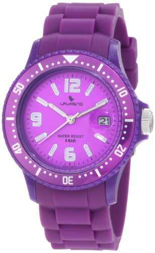 Laurens Women's GW41J907Y Rotating Bezel Purple Rubber (Date Rotating Bezel)