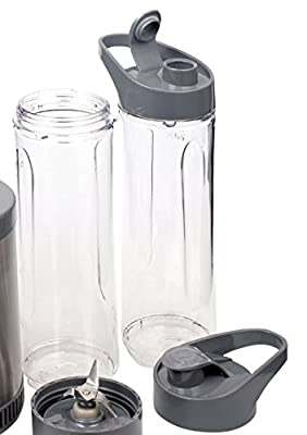 Secura 300W Personal Blender Smoothie Maker Sport Bottle 600ml 2pk