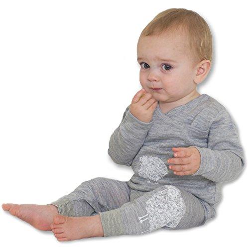 (Merino Kids Thermal, Light Grey/Grey Print, for Toddlers 2-3 Years)