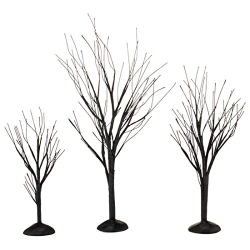 Dept 56 Halloween Village Accessories (Department 56 Halloween Accessories for Village Collections Bare Branch Trees Figurine Set, Multiple Sizes,)