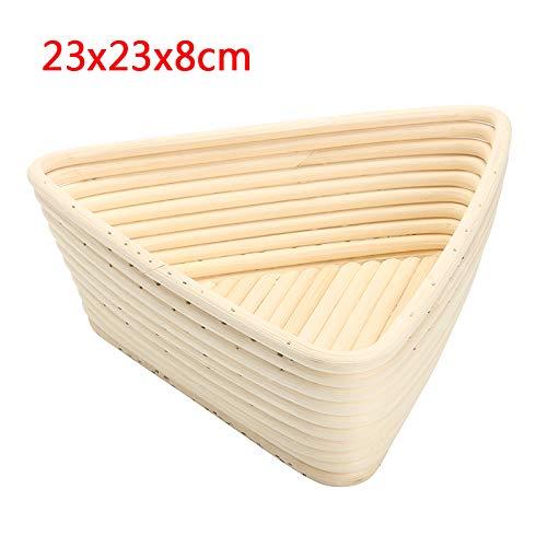 Banneton Proofing Basket - Size Triangle Dough Fermentation Rattan Basket Banneton Brotform Bread Proofing Proving Basket Bread Rattan Basket With Bag - by SHA - 1 PCs by SHA (Image #1)