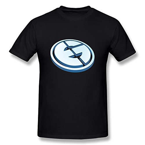 - QMY Men's Eg Evil Geniuses Logo T-shirts XXL Black