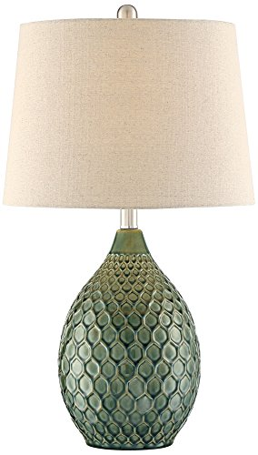 Kate Green Ceramic Table Lamp by 360 Lighting Green Ceramic Lamp