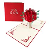 ENJOYPRO Rose Bouquet Pop Up Card, Valentines day