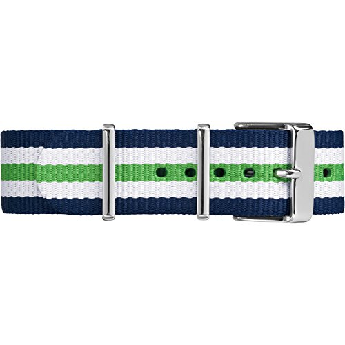 Timex TW7C07000 White Green Stripe product image