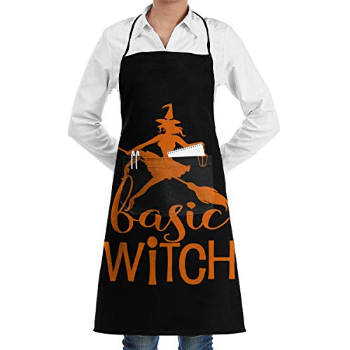 ZGNF3GY Basic Witch Halloween-1 Money Apron with Pockets for Kitchen Chef Gardening Restaurant Etc for Women and Men