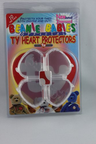 Ty Beanie Babies Heart Tag Protector - Pack of 10 for sale  Delivered anywhere in USA