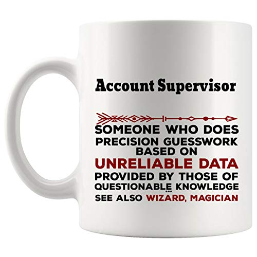 Funny Account Supervisor Mug Gift - 11Oz Coffee Cup - Best Gifts for Men Women T-Shirt Cups Mugs from WingToday