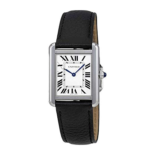 Cartier Tank Solo Silvered Light Opaline Dial Ladies Watch WSTA0030