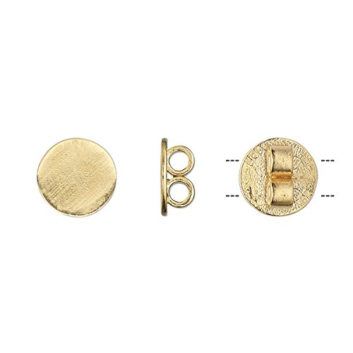 Bola slide gold-plated brass 10mm round fits 2mm cord