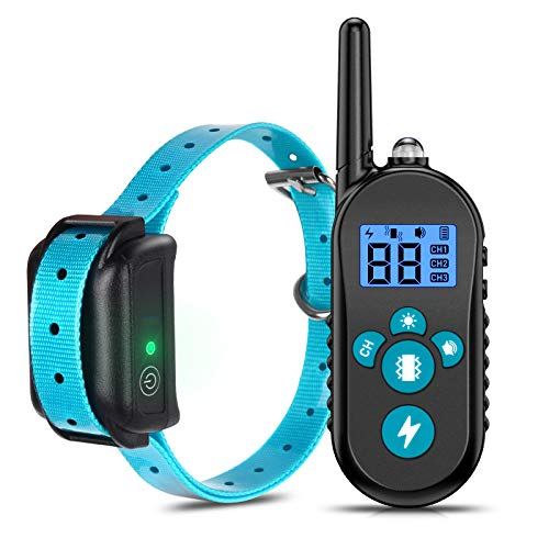 DiroPet Shock Collar for Dogs with Remote, Dog Training Collars Waterproof Rechargeable, 4 Training Modes, Beep…