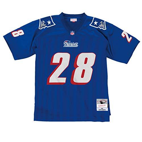 Throwback Jerseys Patriots - Mitchell & Ness Curtis Martin New England Patriots Throwback Jersey Blue (Large)