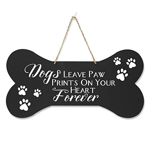 LifeSong Milestones Sympathy Memorial Pet Quote Dog Bone Wall Hanging Sign, Dog Lovers Gifts for Women, Dog Owner Gift for Home Decor, 8