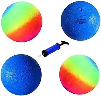 Amazon.com: OrgMemory - Balón de juegos, kickball, (8,5 ...