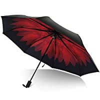 Rainlax Travel Umbrella UV Protection Sun& Rain Compact Windproof Umbrellas