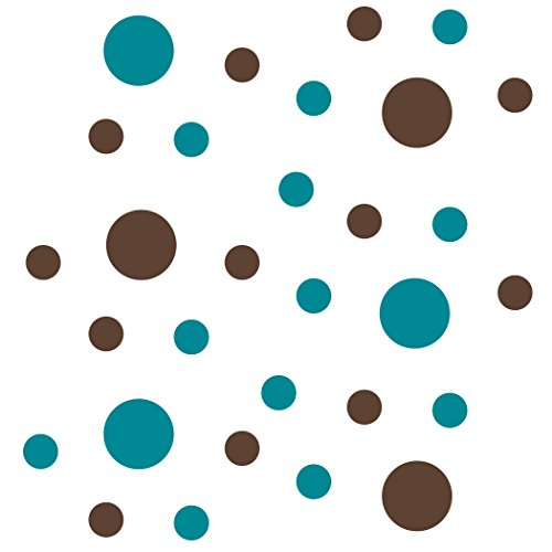 brown and turquoise wall decals - 1